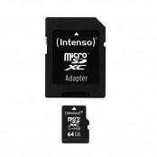 Scheda di memoria microSDXC 64 GB Class 10 + adattatore SD...