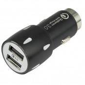 Caricabatteria da auto 2 porte USB nero TL205