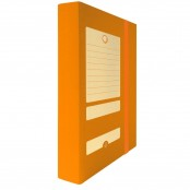 Scatola portaprogetto D6 arancio