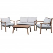 Salotto Lodge 2 poltrone, 1 divano 2 posti e 1 tavolo