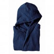 Accappatoio con cappuccio taglia XL microspugna blu