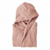 Accappatoio con cappuccio taglia L microspugna rosa
