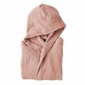 Accappatoio con cappuccio taglia S microspugna rosa