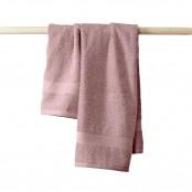 Set ospite 40x60 cm +  asciugamano 60x110 cm rosa