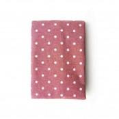 Tovaglia 6 posti a pois rosa 140x180 cm