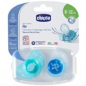 Succhietto Physio Air azzurro/blu 6-12m slicone 2 pz.