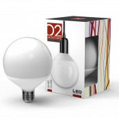 Lampadina LED Stripes White Globe G125 E27 20W 3000K A+