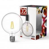 Lampadina LED Stripes Cristal Globe G125 E27 8W 2700K A++