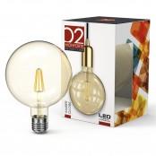 Lampadina LED Stripes Amber Globe G125 E27 8W 2200K A+