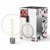 Lampadina LED Stripes Tornado Globe G125 E27 5W 2700K A+