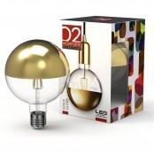 Lampadina LED Stripes Gold Globe G125 E27 8W 2700K A+