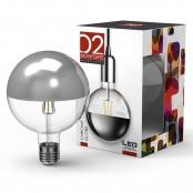 Lampadina LED Stripes Chrome Globe G125 E27 8W 2700K A+