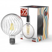 Lampadina LED Stripes Wave Globe G125 E27 8W 2200K A++