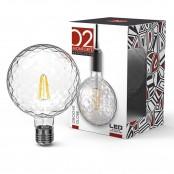 Lampadina LED Stripes Groove Globe G125 E27 8W 2700K A++