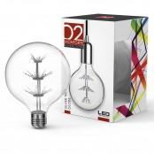 Lampadina LED Stripes Silver Tree Globe G125 E27 2W 3000K A+