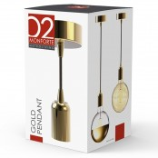 Porta lampada a sospensione Gold Pendant Dorato E27