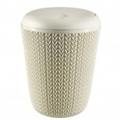 Pattumiera basculante Knit Bathroom Bin Oasis White 7 L...