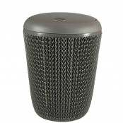 Pattumiera basculante Knit Bathroom Bin 7 L marrone