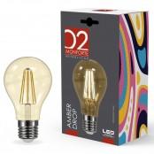 Lampadina LED Stripes Amber Drop A60 goccia E27 8W 2200K A+