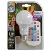 Lampada LED goccia E27 A60 9W RGB+W 810lm