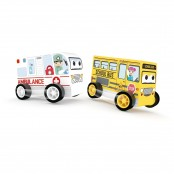 Set Ambulanza e scuolabus 2 pz.