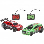 Set 2 auto RC Rally Challenge verde e rosso