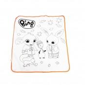 Tappeto da colorare Bing 70x70 cm