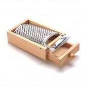 Grattugia con cassetto in legno 11,5x22,5x8 cm