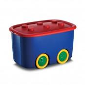 Scatola funny box blu/rosso 58X38,5X32 cm