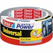 Nastro telato Extra Power Universale 25 m x 50 mm argento
