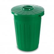 Bidone multiuso con coperchio 60l col. verde