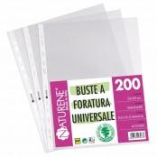 200 buste a foratura universale 22x30 cm leggere finitura...