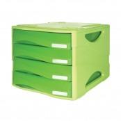 Cassettiera Smile 4 cassetti piccoli verde