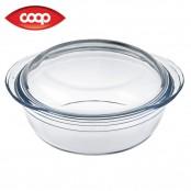 Casseruola in vetro con coperchio Ø 22 cm