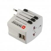 Adattatore da Viaggio Universale con 2 USB e 4 Spine PP2209