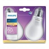 Set 2 lampadine LED Classic luce bianca calda A60 E27 60W...