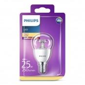 Lampadina LED sfera luce bianca calda P45 E14 25W 2700K A+...