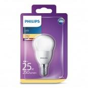 Lampadina LED sfera smerigliata luce bianca calda P45 E14...