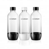 Confezione 3 bottiglie da 1lt in plastica per gasatore