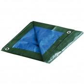 Telo occhiellato verde/blu polietilene 4x5 m