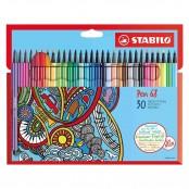 Astuccio in cartone con 30 pennarelli Pen 68