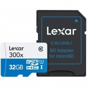 Scheda di memoria flash microSDHC 32 GB Classe 10 +...