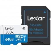 Scheda di memoria flash microSDXC 64 GB Classe 10 +...