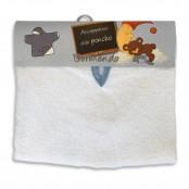 Accappatoio poncho neonato col. bianco/bianco/azzurro