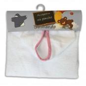 Accappatoio poncho neonato col. bianco/rosa