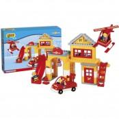 Fireman Playset Stazione dei Pompieri 96 pz.