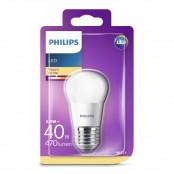 Lampadina LED sfera smerigliata luce bianca calda P45 E27...