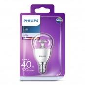 Lampadina LED sfera chiara luce bianca fredda P45 E14 40W...