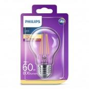 Lampadina LED goccia filamento luce bianca calda A60 E27...