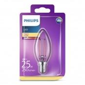 Lampadina LED oliva filamento luce bianca calda B35 E14...